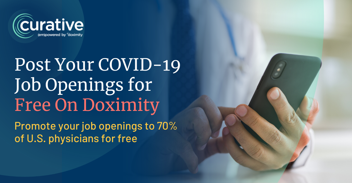 Post Your COVID-19 Job Openings for Free on Doximity